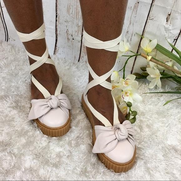Fenty Puma by Rihanna Bow Creeper Sandals Shoes 680418b1d